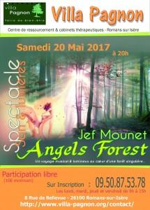 Affiche Angels Forest concert Villa pagnon