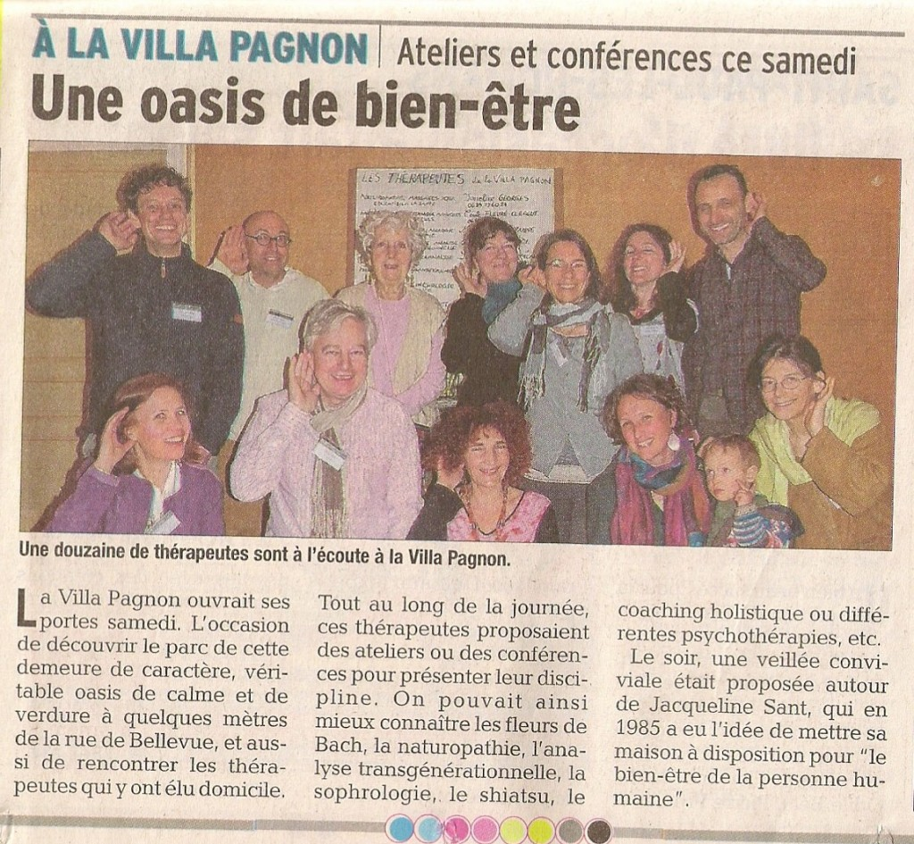 JPO villa pagnon article dauphiné 2 avril 2016