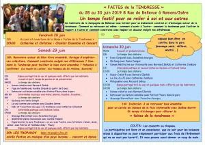 programme Faites de la tendresse 2019
